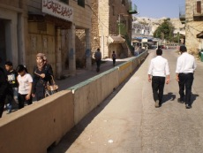 Image result for israel: separate sidewalks for palestinians and jews