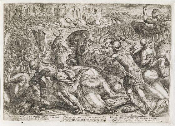"""The Fall of Jericho"" (Antonio Tempesta)"