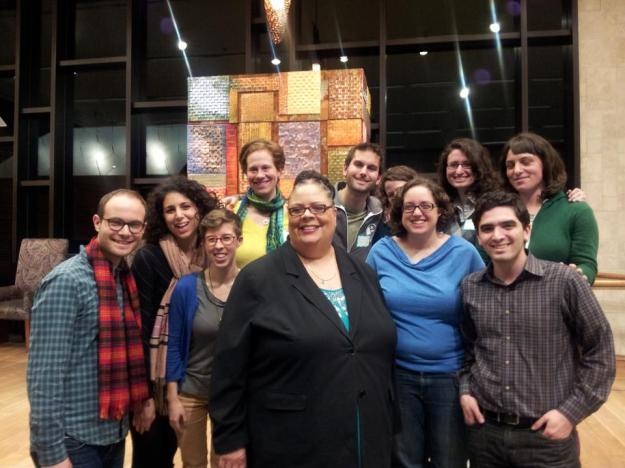 Karen Lewis with JSAS organizers at JRC, 4/17/13