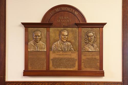 Memorial for Jimmie Lee Jackson, Reverend James Reeb and Viola Liuzzo, UU Headquarters, Boston