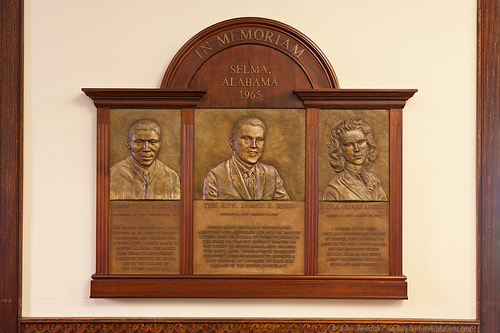 Memorial for Jimmie Lee Jackson, Reverend James Reeb and Viola Liuzzo, UU Headquarters, Boston