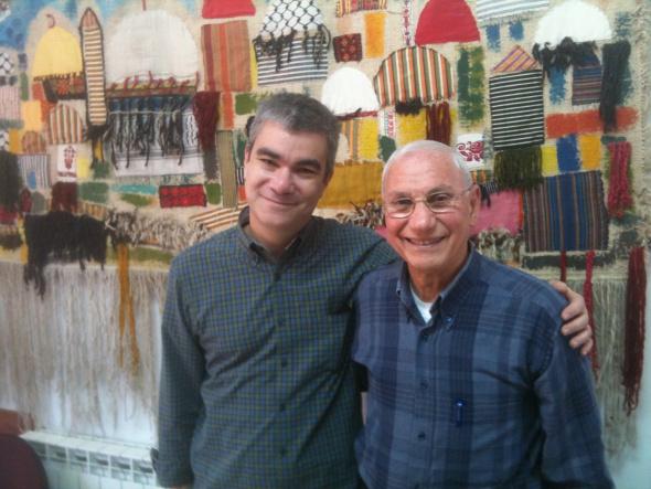With Rev. Dr. Naim Ateek (Dec. 2010)