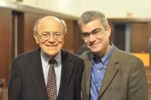 With Rabbi Leonard Beerman, left, Los Angeles, 2/2014