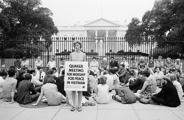 Quakers Demonstrating Outside the White House
